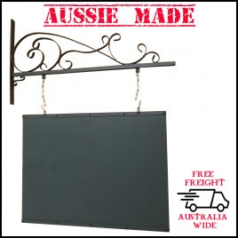 Wrought Iron Large Vintage Sign & Bracket