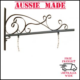 Wrought Iron Large Vintage Bracket